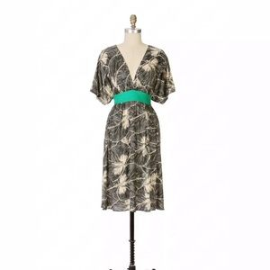 Anthropologie 🍃Maple Clockwork Silk Dress